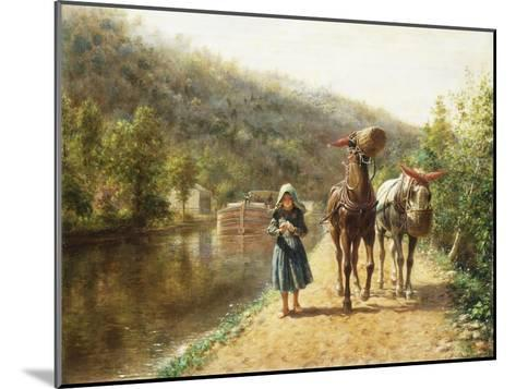 On the Towpath-Edward Lamson Henry-Mounted Giclee Print