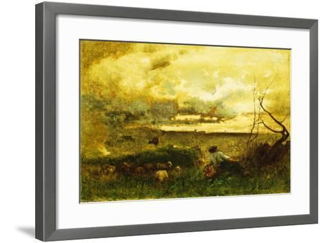 Golden Sunset-George Snr^ Inness-Framed Art Print