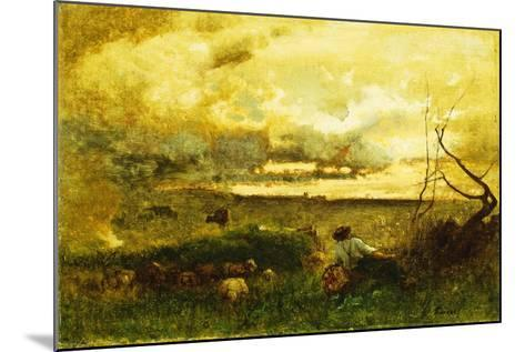 Golden Sunset-George Snr^ Inness-Mounted Giclee Print