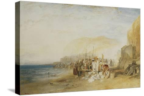 Hastings: Fish Market on the Sands, Early Morning, 1822-J^ M^ W^ Turner-Stretched Canvas Print