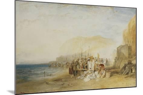 Hastings: Fish Market on the Sands, Early Morning, 1822-J^ M^ W^ Turner-Mounted Giclee Print