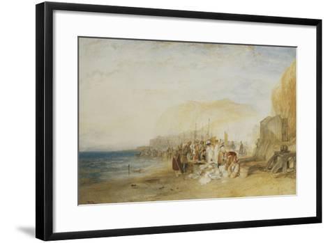 Hastings: Fish Market on the Sands, Early Morning, 1822-J^ M^ W^ Turner-Framed Art Print