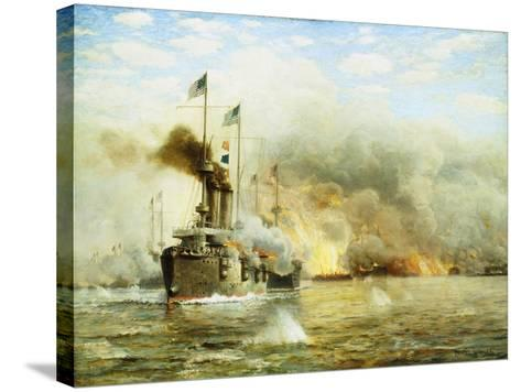 Battleships at War-James Gale Tyler-Stretched Canvas Print