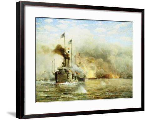 Battleships at War-James Gale Tyler-Framed Art Print