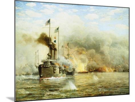 Battleships at War-James Gale Tyler-Mounted Giclee Print