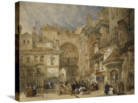 The Gate of the Viva Rambla, Granada, 1834-David Roberts-Stretched Canvas Print