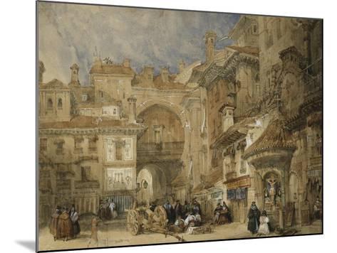 The Gate of the Viva Rambla, Granada, 1834-David Roberts-Mounted Giclee Print