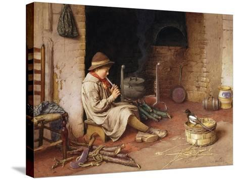 Idle Moments-Charles Edward Wilson-Stretched Canvas Print