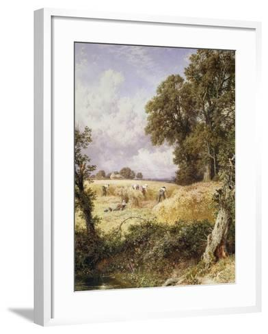 The Reapers-Myles Birket Foster-Framed Art Print