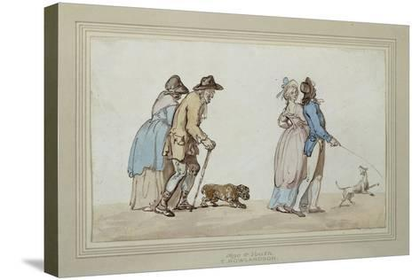 Age and Youth-Thomas Rowlandson-Stretched Canvas Print
