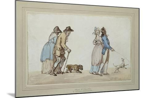 Age and Youth-Thomas Rowlandson-Mounted Giclee Print