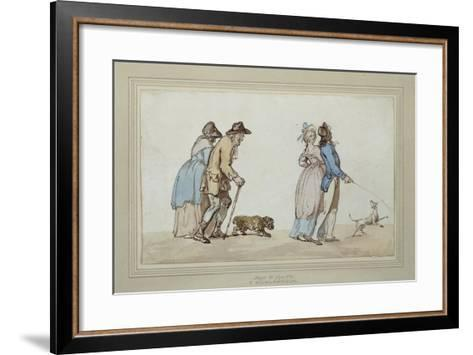 Age and Youth-Thomas Rowlandson-Framed Art Print