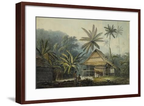 View in the Island of Crakatoa-John Webber-Framed Art Print