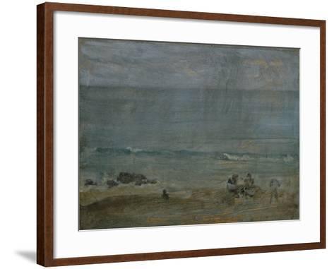 By the Shore, St-James Abbott McNeill Whistler-Framed Art Print