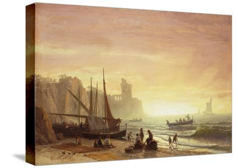 The Fishing Fleet, 1862-Albert Bierstadt-Stretched Canvas Print