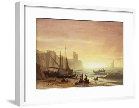 The Fishing Fleet, 1862-Albert Bierstadt-Framed Art Print
