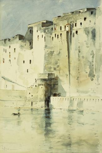 Old Fortress Naples-Childe Hassam-Stretched Canvas Print