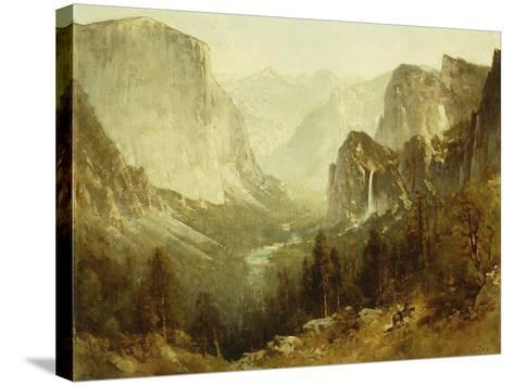 Hunting in Yosemite, 1890-Thomas Hill-Stretched Canvas Print