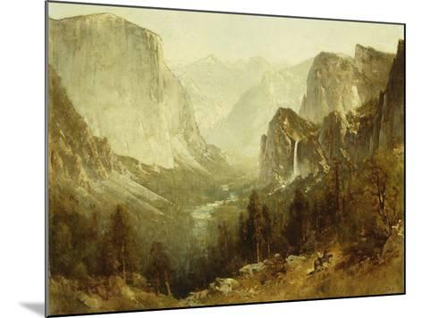 Hunting in Yosemite, 1890-Thomas Hill-Mounted Giclee Print