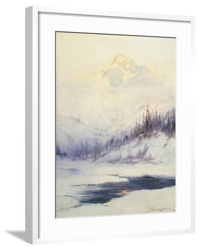 Winter Morning, Mount Mckinley, Alaska-Sidney Laurence-Framed Art Print