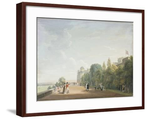 Windsor Castle: the North Terrace Looking East, with Elegant Figures, 1803-Paul Sandby-Framed Art Print
