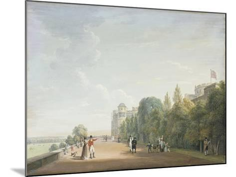 Windsor Castle: the North Terrace Looking East, with Elegant Figures, 1803-Paul Sandby-Mounted Giclee Print