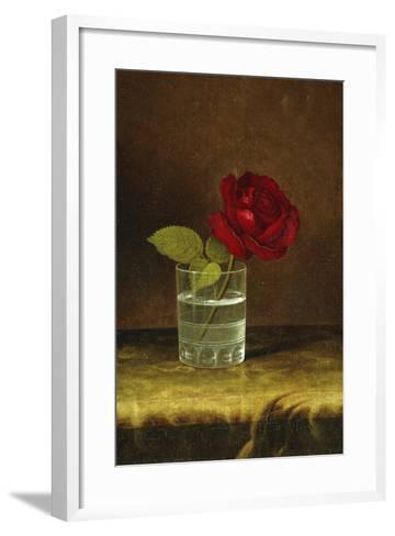 A Red Rose-Martin Johnson Heade-Framed Art Print