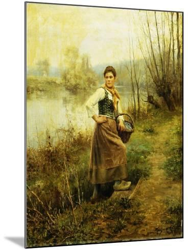 Country Girl-Daniel Ridgway Knight-Mounted Giclee Print