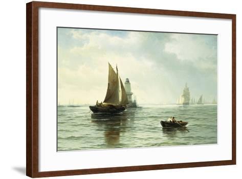 Around the Lighthouse-Edward Moran-Framed Art Print