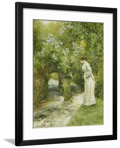 The Mill Stream in Spring-Arthur Hopkins-Framed Art Print