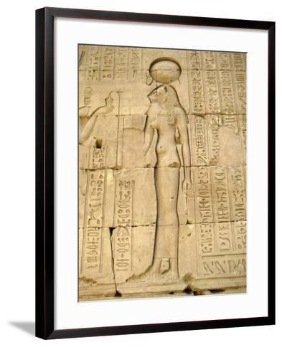 Reliefs of the Lion Goddess Sekhmet Holding the Ankh, Symbol of Life--Framed Art Print