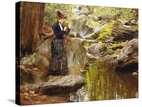 Baiting the Line-Francis Coates Jones-Stretched Canvas Print