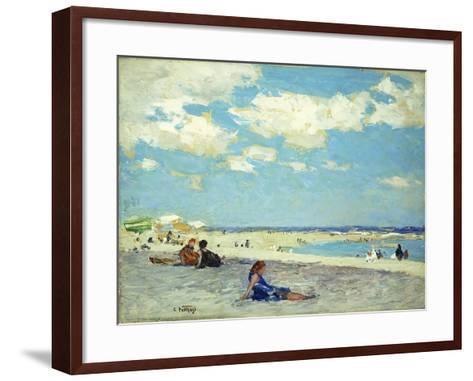 Long Beach-Edward Henry Potthast-Framed Art Print