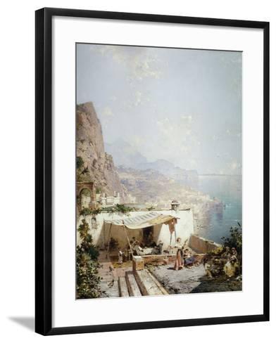 Amalfi - Gulf of Salerno; Amalfi - Golfe De Salerne-Franz Richard Unterberger-Framed Art Print