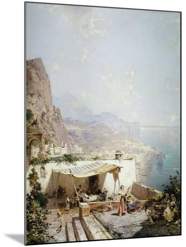 Amalfi - Gulf of Salerno; Amalfi - Golfe De Salerne-Franz Richard Unterberger-Mounted Giclee Print