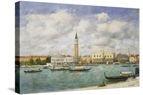 Venice, Campanile, St Mark's View of the Canal from San Giorgio; Venise, Le Campanile, Vue Du…-Eug?ne Boudin-Stretched Canvas Print