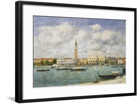 Venice, Campanile, St Mark's View of the Canal from San Giorgio; Venise, Le Campanile, Vue Du…-Eug?ne Boudin-Framed Art Print