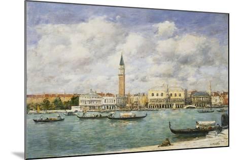 Venice, Campanile, St Mark's View of the Canal from San Giorgio; Venise, Le Campanile, Vue Du…-Eug?ne Boudin-Mounted Giclee Print