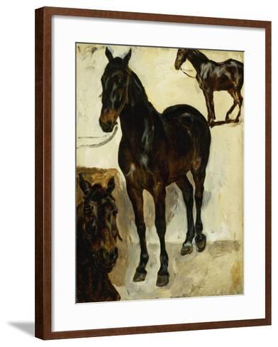 Three Studies of Horses; Trois Etudes De Chevaux, C.1823-Eugene Delacroix-Framed Art Print