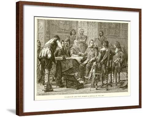 Wallenstein and Tilly Holding a Council of War (1626)--Framed Art Print