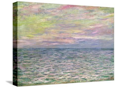 On the High Seas, Sunset at Pourville; Coucher De Soleil a Pourville, Pleine Mer, 1882-Claude Monet-Stretched Canvas Print