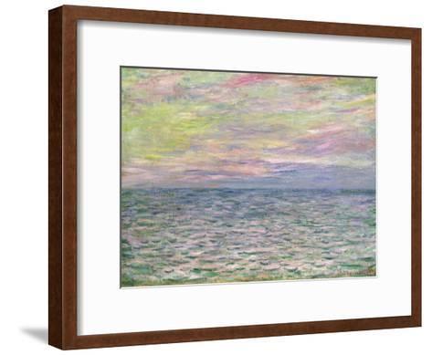 On the High Seas, Sunset at Pourville; Coucher De Soleil a Pourville, Pleine Mer, 1882-Claude Monet-Framed Art Print