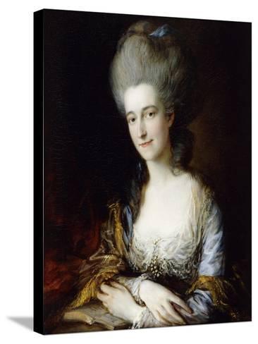 Portrait of Dorothea-Thomas Gainsborough-Stretched Canvas Print