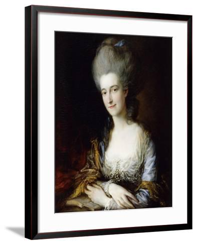 Portrait of Dorothea-Thomas Gainsborough-Framed Art Print