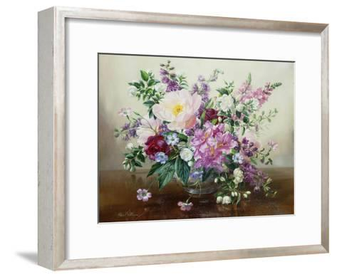 Flowers in a Glass Vase-Albert Williams-Framed Art Print