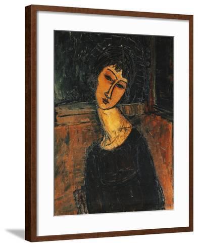 Jeanne Hebuterne, C.1916-17-Amedeo Modigliani-Framed Art Print