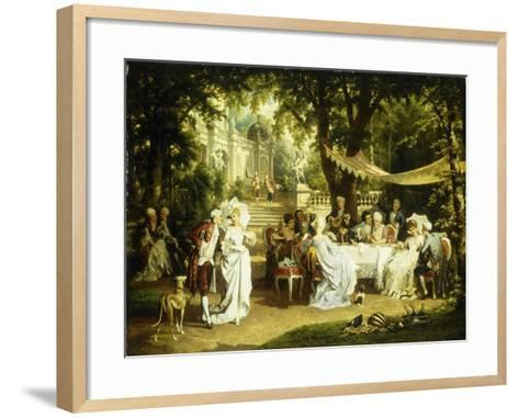 The Garden Party-Karl or Carl the Younger Schweninger-Framed Art Print