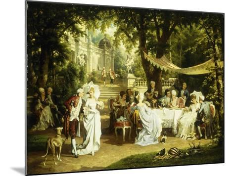 The Garden Party-Karl or Carl the Younger Schweninger-Mounted Giclee Print