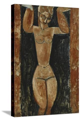 Caryatid; Cariatide, C.1911-1913-Amedeo Modigliani-Stretched Canvas Print