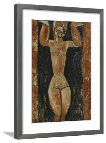 Caryatid; Cariatide, C.1911-1913-Amedeo Modigliani-Framed Art Print